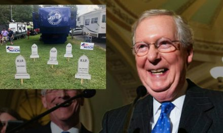 Moscow Mitch Laughs in the Face of Grieving Mass Shooting Victims
