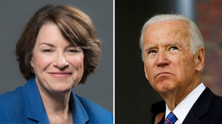 Biden and Klobuchar Discussing Alliance in Iowa