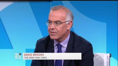 David Brooks Establishes the #NeverSanders Group