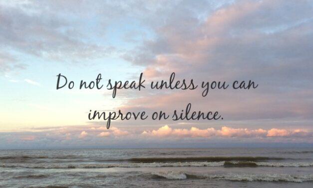 Why I Chose Silence